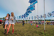 The sun finally comes out in the evening - The 2016 Glastonbury Festival, Worthy Farm, Glastonbury.