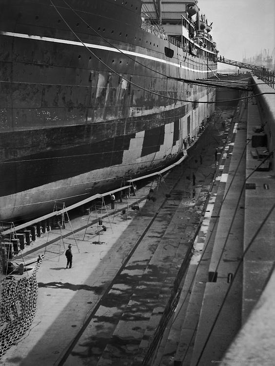Royal Dock, Repairing Vessel, London, 1934
