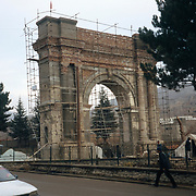 December 2004<br /> The last Soviets departed in February 1989, and with the end of the jihad and the formation of the Islamic Republic of Afghanistan in December 2004, considerable interest was shown in restoring the damaged monuments of Paghman.