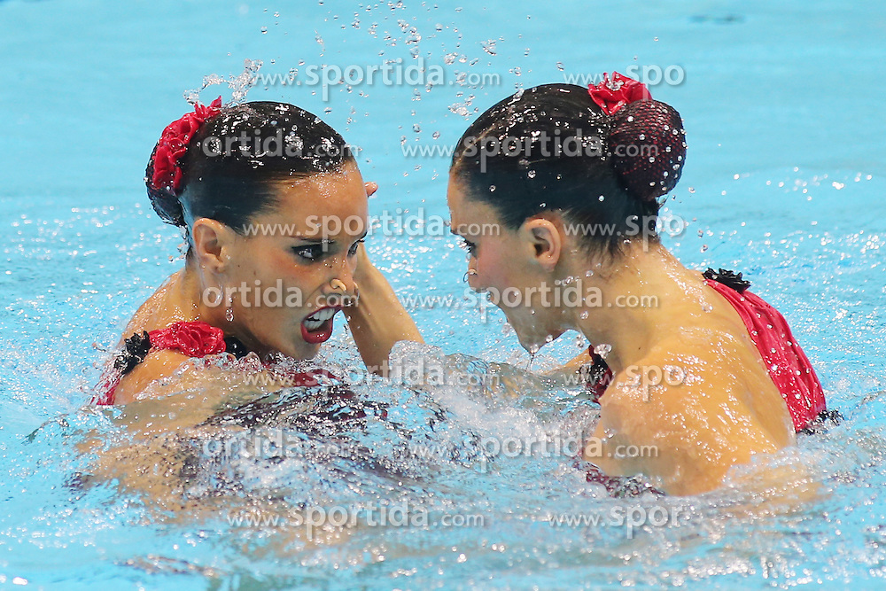 Olympics - London 2012 Olympic Games - 7/8/12.Synchronised Swimming - Women's Duets -Spain's Ona Carbonell Ballestero and Andrea Fuentes Fache.© pixathlon