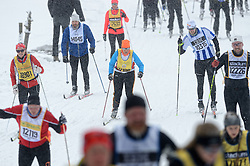06-03-2016 SWE: Vasaloppet Challenge BvdGF day 7, Sälen<br /> Vandaag een rustig dagje, 90 km langlaufen van Sälen naar Mora in bizarre omstandigheden / Rita
