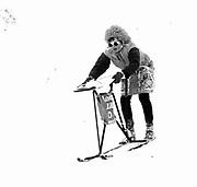 Wally Blacker. Dangerous Sports Club Ski race. St.Moritz 1983© Copyright Photograph by Dafydd Jones 66 Stockwell Park Rd. London SW9 0DA Tel 020 7733 0108 www.dafjones.com