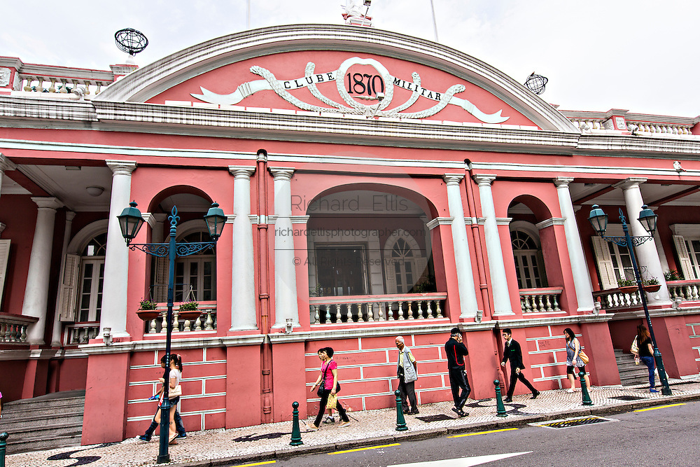 Exterior of the The Military Club or Clube Militar de Macau in Macau.