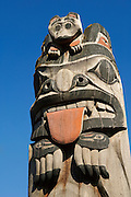 Totem pole at Cape Fox Lodge in Ketchikan, Alaska.