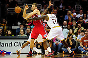 Feb. 11, 2011; Cleveland, OH, USA; Cleveland Cavaliers power forward J.J. Hickson (21) knocks the ball from the hands of Los Angeles Clippers power forward Blake Griffin (32) during the second quarter at Quicken Loans Arena. Mandatory Credit: Jason Miller-US PRESSWIRE