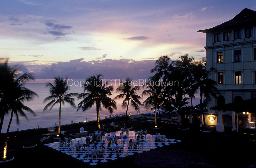 Dusk at Galle Face Hotel, Colombo.