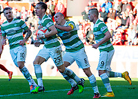 09/11/14 SCOTTISH PREMIERSHIP <br /> ABERDEEN v CELTIC <br /> PITTODRIE - ABERDEEN<br /> Celtic's Stefan Johansen (25) is keen to restart having scored the equaliser