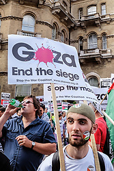 Pro Palestine demo against the violence in Gaza. London Aug 2014