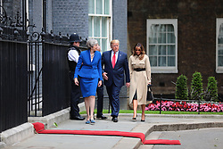 © Licensed to London News Pictures. 04/06/2019. London, UK. President of the United States Donald Trump arrives on Downing Street to meet with Prime Minister Theresa May. Photo credit: Rob Pinney/LNP