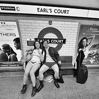 "London January 10th Members of the public on the London underground take part in "" No Pants on the subway"" a worldwide event in which travellers are invitaed today January 10th to travel on the underground without trousers . <br /> <br /> <br /> Standard Licence feee's apply  to all image usage<br /> Marco Secchi - Xianpix tel +44 (0) 7717 298571<br /> http://www.marcosecchi.com"