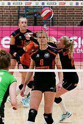 26-10-2019 NED: Dros Alterno - Set Up 65, Apeldoorn<br /> Round 4 of Eredivisie volleyball - Kimberly Smit #8 of Set Up, Benthe Olde Rikkert #2 of Set Up