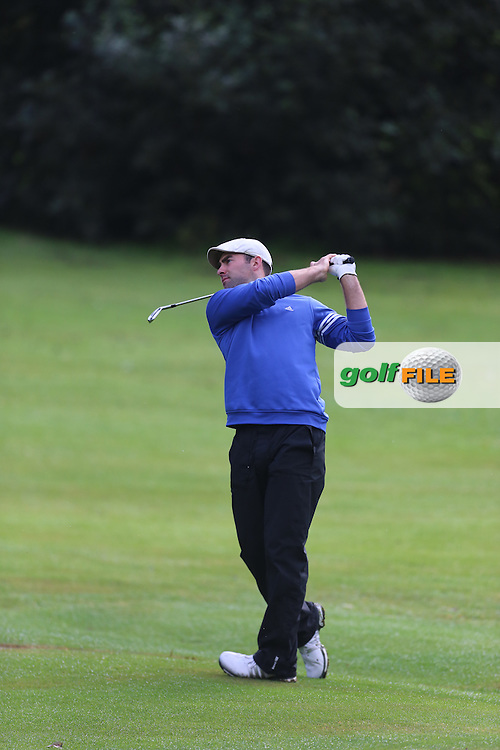 David Laird (Mahee Island) during the Ulster Mixed Foursomes Final, Shandon Park Golf Club, Belfast. 19/08/2016<br /> <br /> Picture Jenny Matthews / Golffile.ie<br /> <br /> All photo usage must carry mandatory copyright credit (© Golffile   Jenny Matthews)