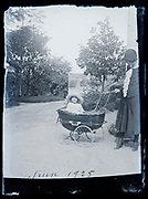 big toddler in a baby stroller France 1925