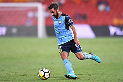 January 8, 2018 - Brisbane, QUEENSLAND, AUSTRALIA - Michael Zullo of Sydney (7) passes the ball during the round fifteen Hyundai A-League match between the Brisbane Roar and Sydney FC at Suncorp Stadium on Monday, January 8, 2018 in Brisbane, Australia. (Credit Image: © Albert Perez via ZUMA Wire)