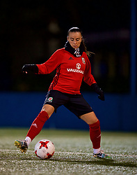 SAINT PETERSBURG, RUSSIA - Sunday, October 22, 2017: Wales' Natasha Harding during a training session at the Petrovsky Minor Sport Arena ahead of the FIFA Women's World Cup 2019 Qualifying Group 1 match between Russia and Wales. (Pic by David Rawcliffe/Propaganda)