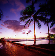 The Jetty at Waikiki Beach at Sunset