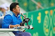 Ashgabat, Turkmenistan - 2017 September 27:<br /> Indoor Tennis competition during 2017 Ashgabat 5th Asian Indoor &amp; Martial Arts Games at Indoor Tennis Arena (ITC) at Ashgabat Olympic Complex on September 27, 2017 in Ashgabat, Turkmenistan.<br /> <br /> Photo by &copy; Adam Nurkiewicz / Laurel Photo Services