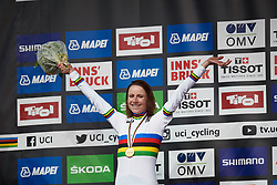 Annemiek van Vleuten (NED) defends her title at UCI Road World Championships 2018 - Elite Women's ITT, a 27.7 km individual time trial in Innsbruck, Austria on September 25, 2018. Photo by Sean Robinson/velofocus.com