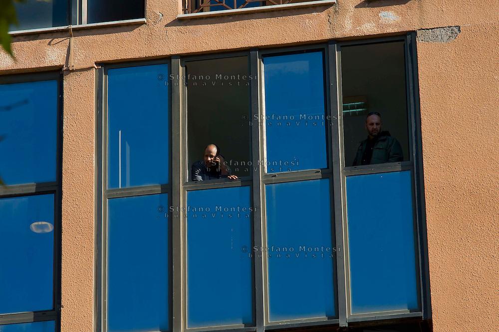 Roma 14 Novembre 2014<br /> Il centro di accoglienza per rifugiati richiedenti asilo politico in via Giorgio  Morandi,    di Tor Sapienza.<br /> Rome November 14, 2014<br /> The reception center for refugees seeking political asylum in Via Giorgio Morandi,  of Tor Sapienza.