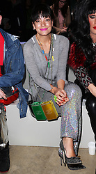 Lily Allen in the front row at the Ashish show at London Fashion Week A/W 2014, Monday, 17th February 2014. Picture by Stephen Lock / i-Images