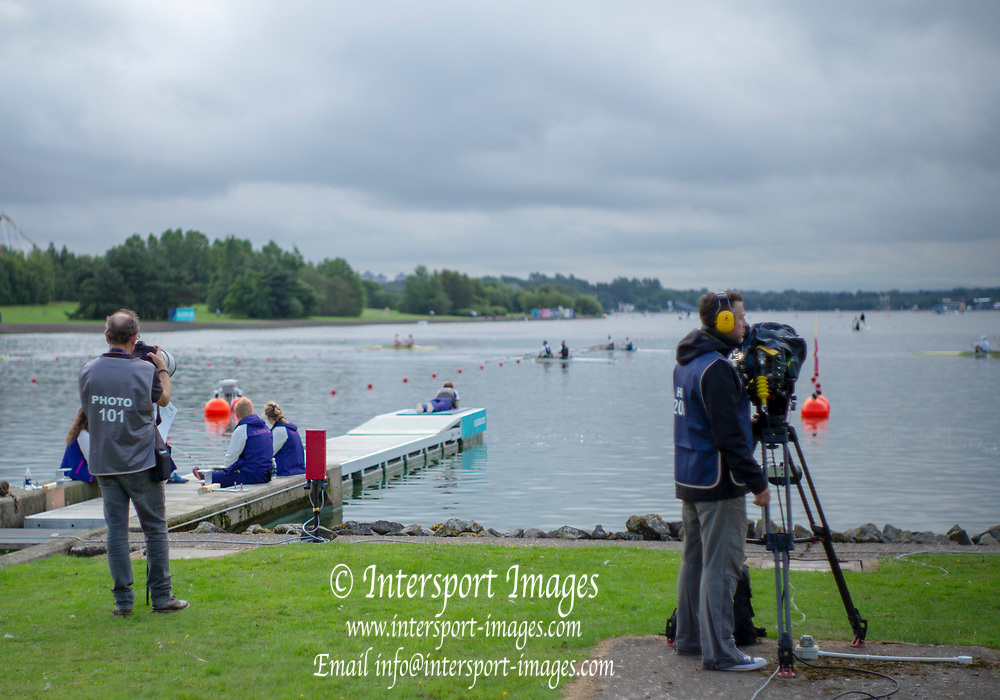 Glasgow, Scotland, Friday, 3rd  August 2018, Press, Media Photogray and Video, European Games, Rowing, Strathclyde Park, North Lanarkshire, © Peter SPURRIER/Alamy Live News