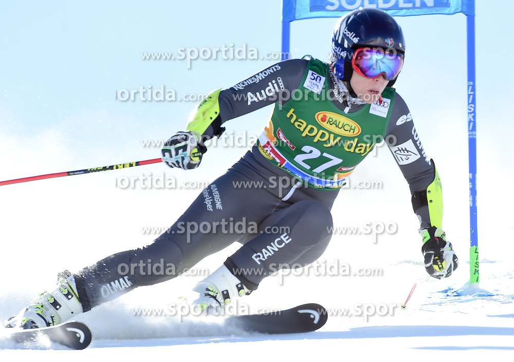 22.10.2016, Rettenbachferner, Soelden, AUT, FIS Weltcup Ski Alpin, Soelden, Riesenslalom, Damen, 1. Durchgang, im Bild Anne-Sophie Barthet of France // in action during 1st run of ladies Giant Slalom of the FIS Ski Alpine Worldcup opening at the Rettenbachferner in Soelden, Austria on 2016/10/22. EXPA Pictures © 2016, PhotoCredit: EXPA/ Erich Spiess