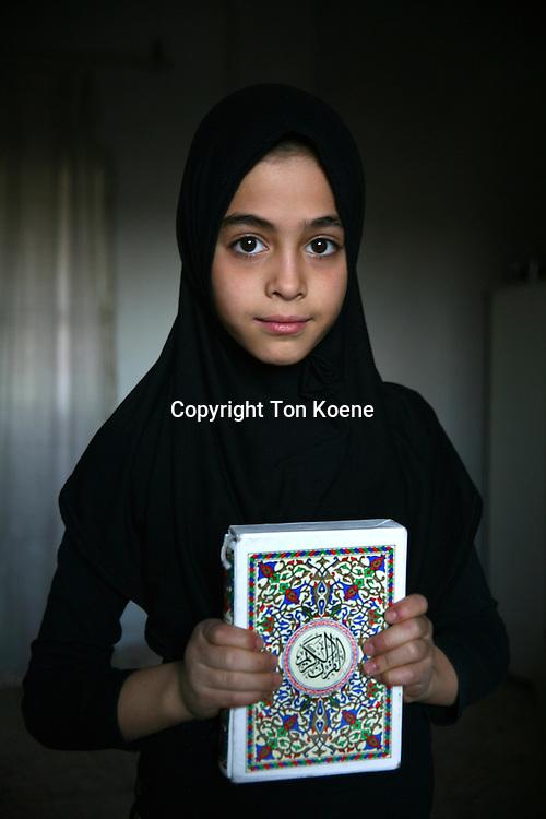 A young Iraqi refugee girl in Amman, Jordan