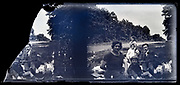 family picnic in the woods by the road 1920s France