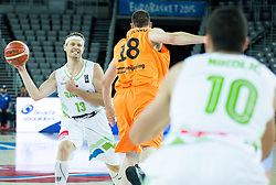 Miha Zupan of Slovenia during basketball match between Slovenia vs Netherlands at Day 4 in Group C of FIBA Europe Eurobasket 2015, on September 8, 2015, in Arena Zagreb, Croatia. Photo by Vid Ponikvar / Sportida