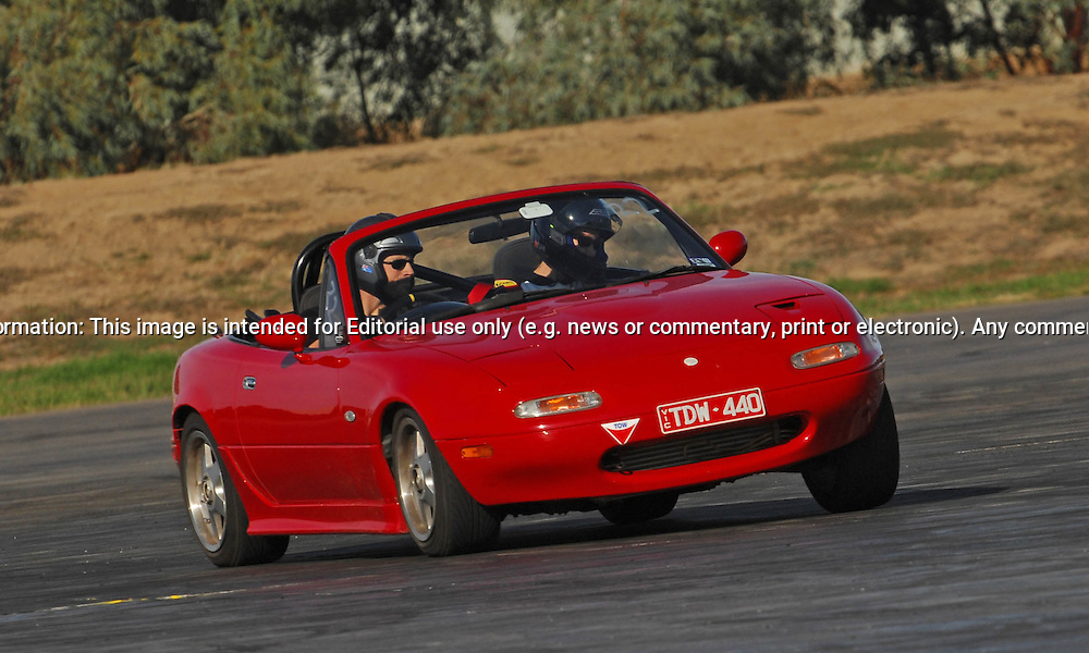 Marcus Stacey.Mazda MX5.SAU Deca Motorkhana sponsored by Micolour.Shepparton, Victoria .23rd of May 2009.(C) Joel Strickland Photographics.Use information: This image is intended for Editorial use only (e.g. news or commentary, print or electronic). Any commercial or promotional use requires additional clearance.