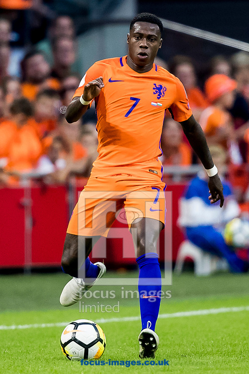 Quincy Promes of Netherlands during the 2018 FIFA World Cup Qualifying match at Amsterdam Arena, Amsterdam<br /> Picture by Joep Joseph Leenen/Focus Images Ltd +316 5261929<br /> 03/09/2017<br /> ***NETHERLANDS OUT***