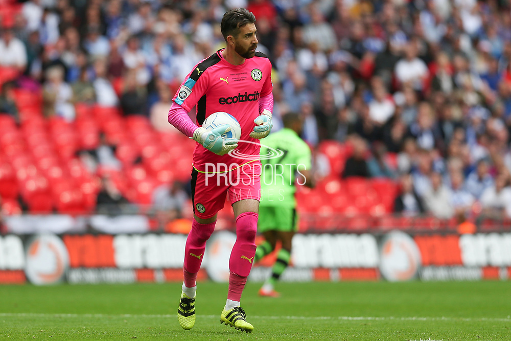 Forest Green Rovers goalkeeper Sam Russell(23) during the Vanarama National League Play Off Final match between Tranmere Rovers and Forest Green Rovers at Wembley Stadium, London, England on 14 May 2017. Photo by Shane Healey.