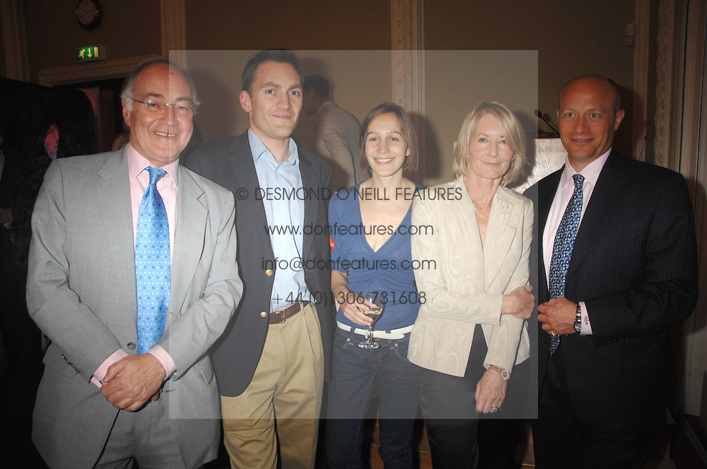 Left to right, MICHAEL HOWARD, NICK HOWARD, LARISSA PERSONS, SANDRA HOWARD and SHOLTO DOUGLAS-HOME at a party to celebrate the publication of Sandra Howard's book 'Ursula's Stor' held at The British Academy, 10 Carlton House Terace, London on 4th September 2007.<br /><br />NON EXCLUSIVE - WORLD RIGHTS