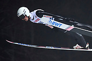 Poland, Wisla Malinka - 2017 November 18: Piotr Zyla from Poland soars through the air during FIS Ski Jumping World Cup Wisla 2017/2018 - Day 1 at jumping hill of Adam Malysz on November 18, 2017 in Wisla Malinka, Poland.<br /> <br /> Mandatory credit:<br /> Photo by © Adam Nurkiewicz<br /> <br /> Adam Nurkiewicz declares that he has no rights to the image of people at the photographs of his authorship.<br /> <br /> Picture also available in RAW (NEF) or TIFF format on special request.<br /> <br /> Any editorial, commercial or promotional use requires written permission from the author of image.