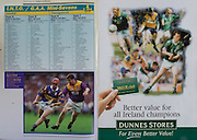 All Ireland Senior Hurling Championship - Final, .14.09.1997, 09.14.1997, 14th September 1997, .14091997AISHCF,.Senior Clare v Tipperary .Tipperary 2-16, Wexford 0-15,.Minor Clare v Galway, .Dunnes Stores,