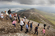 Thousands of Pilgrims make their way up and down the shoulder of Irelands Holy Mountain, Croagh  Patrick. Co. Mayo. Pic: Michael Mc Laughlin Thousands of Pilgrims make their way up and down Croagh Patrick, Irelands Holy Mountain on the annual the pilgrimage day which fall on the second weekend of July, Murrisk Co. Mayo. Pic: Michael Mc Laughlin Thousands of Pilgrims make their way up and down Croagh Patrick, Irelands Holy Mountain on the annual the pilgrimage day which fall on the second weekend of July, Murrisk Co. Mayo. Pic: Michael Mc Laughlin