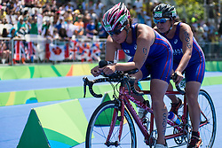 YAMADA Atsuko, NISHIYAMA Yuu - Guide, JPN, Para-Triathlon, PT5 at Rio 2016 Paralympic Games, Brazil