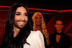 14.04.2015, WDR Studios, Koeln, GER, Menschen bei Maischberger, Sexuelle Vielfalt: Mann, Frau, egal, im Bild Conchita Wurst (Saengerin und Transsexuelle) // during the German TV Talkshow 'Menschen bei Maischberger' on the topic of Sexual Diversity: man, woman, no matter at the WDR Studios in Koeln, Germany on 2015/04/14. EXPA Pictures &copy; 2015, PhotoCredit: EXPA/ Eibner-Pressefoto/ Sch&uuml;ler<br /> <br /> *****ATTENTION - OUT of GER*****
