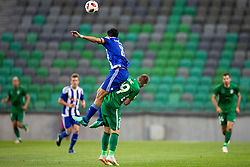 Rafinha of HJK Helsinki and Matic Crnic of NK Olimpija Ljubljana during 1st Leg football match between NK Olimpija Ljubljana and HJK Helsinki in 3rd Qualifying Round of UEFA Europa League 2018/19, on August 9, 2018 in SRC Stozice, Ljubljana, Slovenia. Photo by Urban Urbanc / Sportida