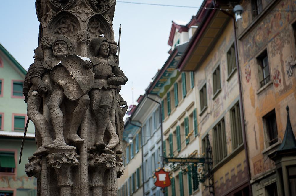 Weinmarkt Fountain, Old Town, Lucerne, Switzerland