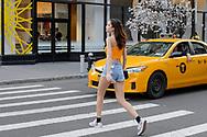Denim Shorts and Vans Sneakers, Noho, April 2018