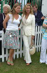 Left to right, JAYNE JONES and ANGIE RUTHERFORD at the Kuoni World Class Polo Day held at Hurtwood Park Polo Club, Surrey on 29th May 2005.<br /><br />NON EXCLUSIVE - WORLD RIGHTS