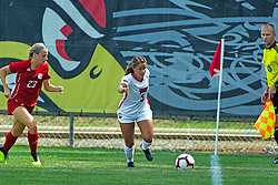 NORMAL, IL - August 10:  Mikayla Unger during a nonconference exhibition women's soccer match between the Southern Illinois Edwardsville Cougars and the Illinois State Redbirds August 10 2019 on Adelaide Street Field in Normal IL (Photo by Alan Look)