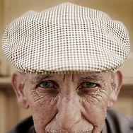 Portrait of an old man in Cañaveral, Caceres province, Extremadura region, Spain . The WAY OF SAINT JAMES or CAMINO DE SANTIAGO following the Silver Way, between Seville and Astorga, SPAIN. Tradition says that the body and head of St. James, after his execution circa. 44 AD, was taken by boat from Jerusalem to Santiago de Compostela. The Cathedral built to keep the remains has long been regarded as important as Rome and Jerusalem in terms of Christian religious significance, a site worthy to be a pilgrimage destination for over a thousand years. In addition to people undertaking a religious pilgrimage, there are many travellers and hikers who nowadays walk the route for non-religious reasons: travel, sport, or simply the challenge of weeks of walking in a foreign land. In Spain there are many different paths to reach Santiago. The three main ones are the French, the Silver and the Coastal or Northern Way. The pilgrimage was named one of UNESCO's World Heritage Sites in 1993. When there is a Holy Compostellan Year (whenever July 25 falls on a Sunday; the next will be 2010) the Galician government's Xacobeo tourism campaign is unleashed once more. Last Compostellan year was 2004 and the number of pilgrims increased to almost 200.000 people.