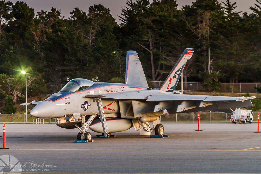 F-18 VFA 137 Kestrels, on the Ramp at MRY, M0nterey, California