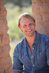 handsome blond man smiling