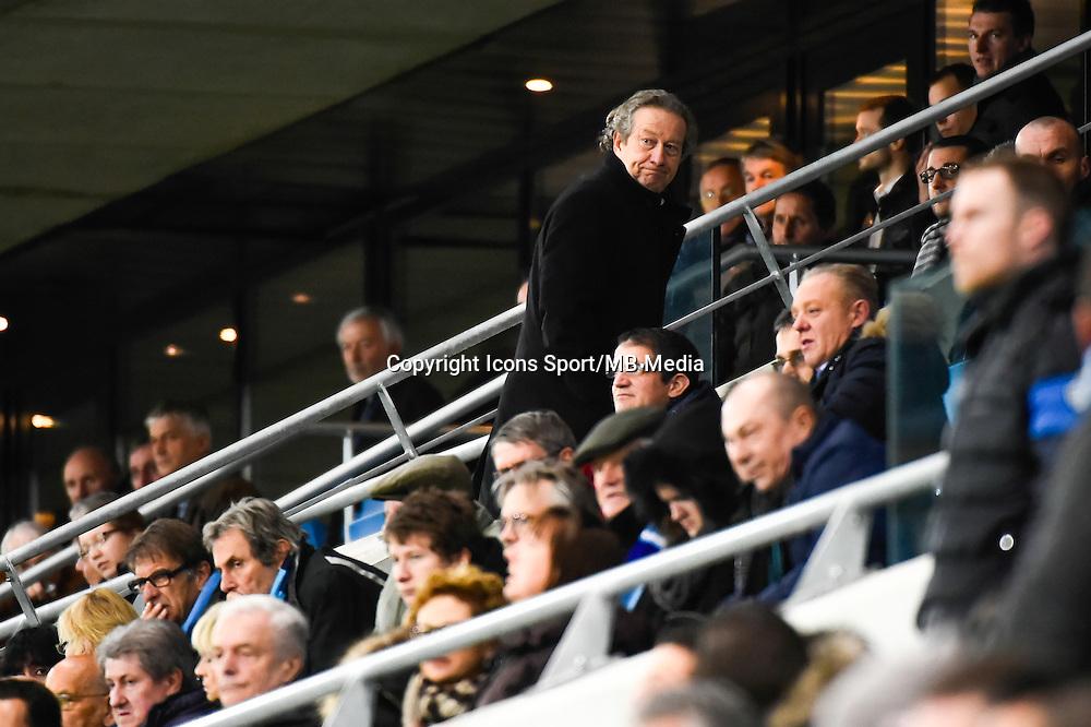 Deception Jean Pierre LOUVEL (quitte la tribune avant la fin du match)  - 12.12.2014 - Le Havre / Laval - 17eme journee de Ligue 2 <br /> Photo : Fred Porcu / Icon Sport