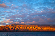 Morning light greets the Sierra de la Giganta Mountain Range along the Gulf of California near Loreto Mexico