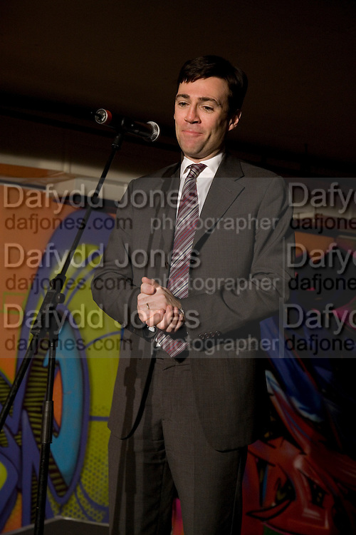 ANDY BURNHAM M.P., The launch of Your Game 2008. Swiss Ambassador's Residence car park. Bryanston Sq. London. W1. 28 February 2008.  *** Local Caption *** -DO NOT ARCHIVE-© Copyright Photograph by Dafydd Jones. 248 Clapham Rd. London SW9 0PZ. Tel 0207 820 0771. www.dafjones.com.