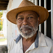 AUGUST 27, 2018--PATILLAS---PUERTO RICO--<br /> Miguel Cora Pe&ntilde;a, 75, a local farmer, at a GUPE outreach event with local farmers.<br /> (Photo by Angel Valentin/Freelance)